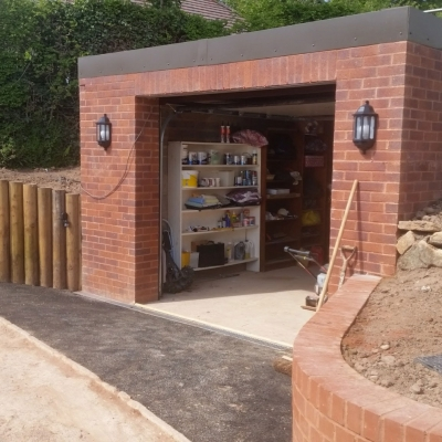 Completed Garage Extension