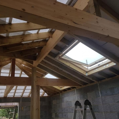 Roof build for new extension