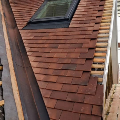 new build construction roof