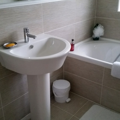 New build project bathroom installation