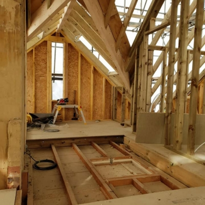 Timber frame new build project, Axminster