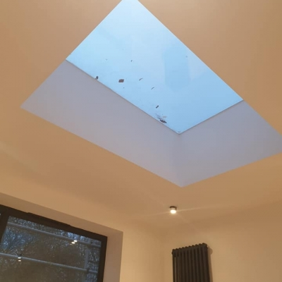 Skylight installation in extension build project