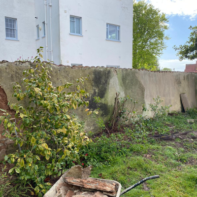 Sidmouth-Wall-Before